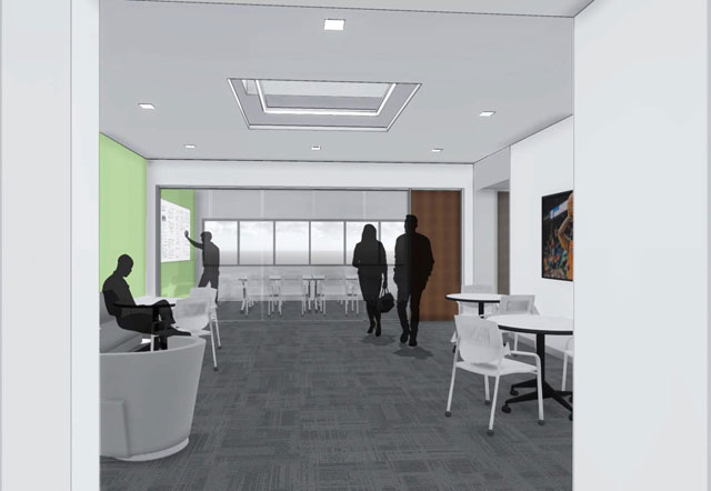 second level lounge Speech and Hearing Science Building