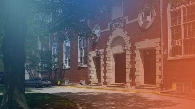front entrance of Huff Hall