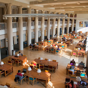 students studying in Grainger Library